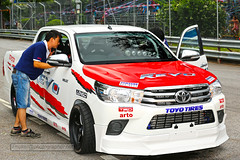 Toyota Hilux Revo at Toyota Fun Fast Fest at Phuket island, Thailand (forum.linvoyage.com) Tags: toyota hilux revo festival fest fun car road race people pickup truck racing fast speed color red white sport phuket phuketian thailand