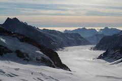 Grosser Aletschgletscher ( Gletscher / Glacier ) in der zur UNESCO-Weltnaturerbe erklärten Bergregion Jungfrau - Aletsch - Bietschhorn in den Alpen / Alps im Kanton Wallis / Valais in der Schweiz (chrchr_75) Tags: christoph hurni schweiz suisse switzerland svizzera suissa swiss chrchr chrchr75 chrigu chriguhurni chriguhurnibluemailch november2017 november 2017 albumzzz201711november gletscher glacier ghiacciaio 氷河 gletsjer kantonwallis kantonvalais wallis valais albumgletscherimkantonwallis alpen alps