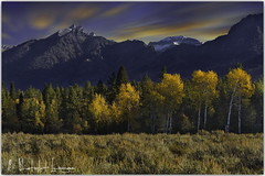 Autumn row (PhotoArt Images (mostly off)) Tags: autumn fall usa photoartimages grandteton jacksonhole mountains exposureblending nikond3