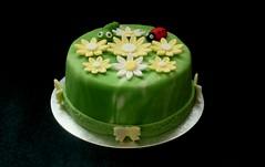 A 75th Birthday Red Velvet cake (terencepkirk) Tags: food fondant canon cake desserts delicious 550d red velvet birthday flowers