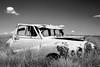 Ghost town Saskatchewan: Neidpath series (Image 2) (Martin Thielmann) Tags: neidpath sk abandonedauto c1954austina40somerset fenceline ghosttown vintageauto