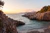 Sunset in Montenegro in a quiet cove (zmonarski.m) Tags: montenegro summer2017 canon 70d 18135 sunset hills cove bay adriatic sea rocks quiet peaceful holidays balkans coast crna gora czarnogóra