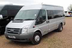 Towersey, Abingdon FV11 BLJ, Ford Transit at Cheltenham racecourse (majorcatransport) Tags: oxfordshirebuses towerseyabingdon fordtransit cheltenham ford
