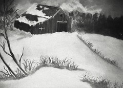 a girls heart before christmas (larrynunziato) Tags: winter landscape mixedmedia digitalpainting december snow