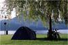 The camp in Austria (Vyacheslav Salangin) Tags: никон никкор фотоплёнка фуджи провия озеро траунзее австрия путешествия велопоход стоянка nikkon nikkor fujichrome provia austria saltzkammergut traunsee camp velo tent mountains
