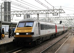 abellio Greater Anglia . 82127 . Stratford Station , East London . Tuesday 05th-December-2017 (AndrewHA's) Tags: stratford railway station east london train abellio greater anglia class 82 driving van luggage trailer dvt dlt 82127 1p32 liverpool street norwich norfolk express passenger service brel derby