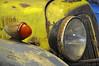 Deutschland Usedom DDR-Museum Dargen_DSC0834 (reinhard_srb) Tags: deutschland usedom ddrmuseum dargen ifa f8 schnelllieferwagen 1950 1955 oldtimer museum rost gelb schnautze scheinwerfer kotflügel motorhaube kühler grill blinker metall blech rund karosserie radeberg