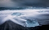Shades of cold (Mika Laitinen) Tags: canon5dmarkiv diamondbeach europe horizon iceland jökulsárlón leefilters beach blacksand blue cloud cold dreamscape ice landscape longexposure nature ocean outdoors sea seascape shore sky water wave easternregion is timeless
