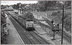 50s in the 70s (david.hayes77) Tags: class50 50024 1976 kodaktrix st austell cornwall kernow bw monochrome blackandwhite semaphores palaceroad englishelectric vanguard