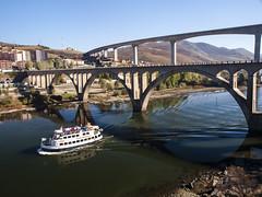 Peso da Régua. Douro Vinhateiro. (RosanaCalvo) Tags: douro dourovinhateiro pesodarégua portugal barco crucero otoño paseo puentes reflejos rio viñas