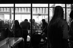 Powell Street Starbucks (Jay Pasion) Tags: jaypasion nikon d7500 tamron people bnw blackandwhite bw window downtown sanfrancisco california bayarea starbucks coffee