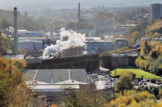 Contre Jour Steam In A Millscape.