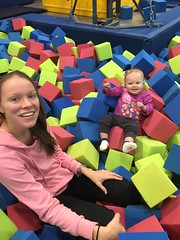 """Dani and Mommy in the Foam Pit During Gym Kittens • <a style=""""font-size:0.8em;"""" href=""""http://www.flickr.com/photos/109120354@N07/24506016378/"""" target=""""_blank"""">View on Flickr</a>"""