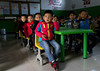 Salar ethnic minority children in a school, Qinghai province, Xunhua, China (Eric Lafforgue) Tags: asia asian asianethnicity childhood childrenonly china china17520 classroom colourimage education ethnicminority fulllenght groupofpeople horizontal huangnan indoors muslim primaryschool qinghaiprovince salar salarautonomouscounty school sitting study tibetanautonomousprefecture worldtravel xunhua chn