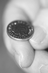 Heads or Tails 317/365 (Jacqueline138Kelly) Tags: jacquelinekelly nikon 365 365challenge 365the2017edition d5200 18250macro coin coins blackandwhite mono macro macromondays portrait chance gamble fingertips fingertip finger headsandtails headsortails