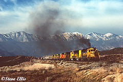 SF 3613 Summit, Ca 5-1989 (steveellis12) Tags: gp392 atsf santafe cajon