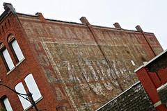 Ghost Signage, Binghamton, NY (Robby Virus) Tags: binghamton newyork ny upstate ghost sign signage ad advertisement paint painted brick wall storage warehouse quaker