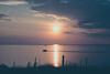 Drowning in the West (lifeless567) Tags: silhouette landscape sea ocean water boat trvel vacation travel grass reflection clouds dusk nightevening waves united kingdom lake district canon eos 1100d sun light night dark outdoor outdoors