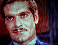 Omar Sharif (Chris C. Crowley- Always behind but trying to catc) Tags: omarsharif actor man handsome screenstar filmstar egyptian mustache hollywood films movies funnygirl televisionimage