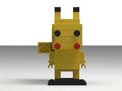 pikachu brickheadz (front) (Dewott boy) Tags: pokemon lego pikachu brickheadz moc