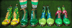 T.M.N.T  and eyes. (CWhatPhotos) Tags: cwhatphotos photographs photograph pics pictures pic picture image images foto fotos photography that have which with contain tmnt teenage mutant ninja turtles turtle green boot dr marten martens airwair 1460 artistic art view wear foot feet yellow stitching docs dms doc dm eyes mask dm's boots oxbloods laces macro sockswitheyes socks eye