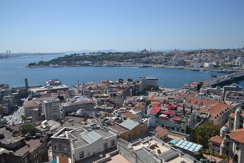 Vogelperspektive auf Istanbul vom Galata-Turm aus (117LIEBE_1190)