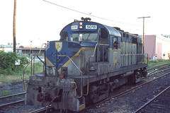 Delaware & Hudson RS36 #5018 in Albany NY on the morning of 7-19-79 (LE_Irvin) Tags: albanyny dh rs36