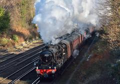 Cathedral steam (ianmartian) Tags: steam stanier black5 45212 1z45 byfleet ashford salisbury