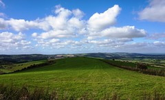 View from Amberley Mount, South Downs 3 (Leimenide) Tags: south downs way sky clouds countryside amberley mount view england hills downland west sussex chalk grass path fields