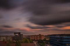 Atardeceres de Madrid. (Amparo Hervella) Tags: madrid españa spain paisajeurbano nube arquitectura atardecer largaexposición color d7000 nikon nikond7000 comunidadespañola