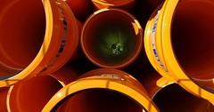 """Das Rohr. Die Rohre. Diese Rohre sind orange. Durch Rohre können Flüssigkeiten fliessen. • <a style=""""font-size:0.8em;"""" href=""""http://www.flickr.com/photos/42554185@N00/26395535939/"""" target=""""_blank"""">View on Flickr</a>"""
