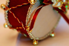 Bang,Bang on the Drum. (acwills2014) Tags: macromondays musicalinstruments drum bangbang decorative decoration minature dof ribbons