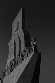 fine art dark black & white interpretation of the Padrão dos Descobrimentos (Monument of the Discoveries), Lisbon, Portugal