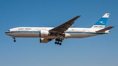 Kuwait Airways 9K-AOB pmb19-4917 (andreas_muhl) Tags: 777 777200 9kaob airframestatusstored boeing boeing777269er heathrow kuwaitairways lhr london sticker aircraft aviation planespotter planespotting
