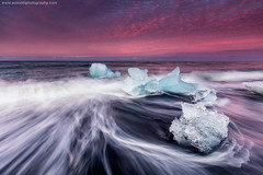 The Ice Beach @ Jökulsárlón, Iceland (Avisekh) Tags: iceland jokulsarlon ice beach seascape sunrise canon 5dsr 1635 polarizer lee gnd nature longexposure tripod icebeach