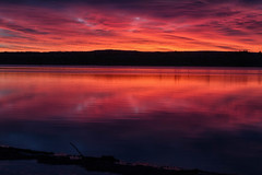 Morning Glow (mclcbooks) Tags: sunrise dawn daybreak sky clouds lake morning beach landscape chatfieldstatepark lakechatfield colorado