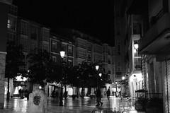 Burgos (martagsc79) Tags: burgos noche luces plaza bn