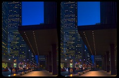 Toronto dusk 3-D / CrossEye / Stereoscopy / HDR / Raw (Stereotron) Tags: north america canada province ontario toronto to tdot hogtown thequeencity thebigsmoke torontonian downtown financialdistrict streetphotography urban citylife architecture bluehour night dusk twilight crosseye crosseyed crossview xview cross eye pair freeview sidebyside sbs kreuzblick 3d 3dphoto 3dstereo 3rddimension spatial stereo stereo3d stereophoto stereophotography stereoscopic stereoscopy stereotron threedimensional stereoview stereophotomaker stereophotograph 3dpicture 3dglasses 3dimage twin canon eos 550d yongnuo radio transmitter remote control synchron kitlens 1855mm tonemapping hdr hdri raw