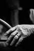 Newly Single (belleshaw) Tags: blackandwhite roseburg douglascountymuseum oregon mannequin hand fingers ring missing knuckles car steeringwheel detail bokeh
