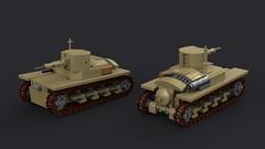 Falso L6/40 Light Tank (Backward Matt) Tags: tank lego render ldd lddtopovrayconverter povray mattthebackwardone backwardmatt dcvii