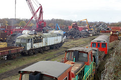 56128 CF Booth Rotherham 9th December 2017 (John Eyres) Tags: 56128 cf booth rotherham 9th december 2017 56128awaitsthegasaxeatcfboothscrapyard rotherham091217