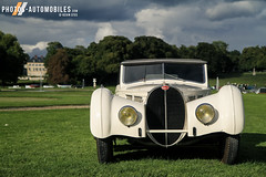 Bugatti 57S Cabriolet Vanvooren (1938) (Kyter MC) Tags: chantilly arts elegance 2017 europe france castle chateau concours cars voituresanciennes anciennes classic classiccars kyter canon eos sk ks photography automotive bugatti 57s cabriolet vanvooren 1938