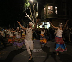 From San Francisco and Día de los Muertos--the Day of the Dead--it's Maracata Pacifica. A day of grief and joy, in remembering those who are gone. (beppesabatini) Tags: diadelosmuertossanfrancisco2017 diadelosmuertos dayofthedead missiondistrict sanfrancisco california heymastiempoquevida theannualfestivalofaltars