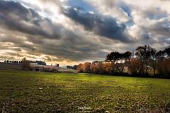 Oggi. Il sole che non c'e' (Danilo Agnaioli) Tags: umbria italia perugia natura autunno cielo nuvole alberi sole canon6d