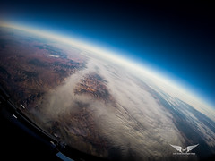 36,000 feet over Spain, with a Gopro (gc232) Tags: gopro spain high altitude iss like view livefromtheflightdeck golfcharlie232 pilotsview pilotlife fly flying space dark sky aviation