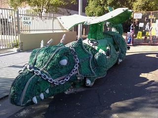 The Green Dragonmobile Returns to the Doo Dah Parade