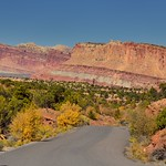 A Panoramic View to the Waterpocket Fold in Capitol Reef National Park thumbnail