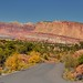 A Panoramic View to the Waterpocket Fold in Capitol Reef National Park