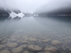 Crystal Clear Lake Louise (Mr. Happy Face - Peace :)) Tags: lakelouise snow skiresort albertabound art2017 cans2s canada150 naturelover rockies rockymountains fairmount banffparkway canadaparks lovenature hiking glacier lake paysages scenery