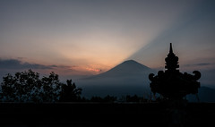 sunset temple (alain01789) Tags: sunset crepuscule temple pura lempuyangbali indonesia agung ray lightning shadows ombres volcan volcano lumiere light velvia